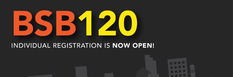 BSB120 Header - Individual Registration is Now Open!